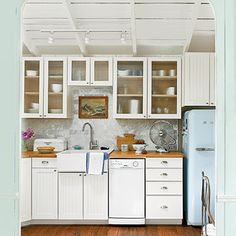 small, functional kitchen