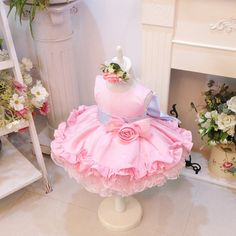 NEW!!! Infant Baby Toddlers Wedding Flower Girl Easter Holiday Party Princess Fancy Pageant TuTu Dress 3