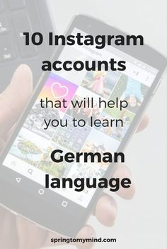Learn German on Instagram | 10 accounts that will help you to improve your German | Best Instagram accounts for German learners | Free resources for learning German | Learn German online | German resources for beginners | German words | Tips for learnign German