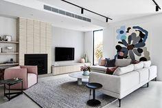 Mod Living Room, Big Living Rooms, Living Room Styles, Living Room Trends, Living Spaces, Style Salon, Sala Grande, Modern Interior, Interior Design