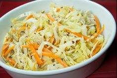 Sesame Ginger Cabbage With Carrots and Chicken