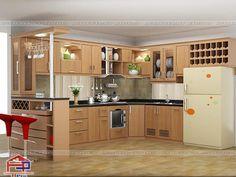 Tủ bếp gỗ có quầy bar là gì? Những ưu điểm của dòng tủ bếp quầy bar khiến nhiều người ưa chuộng và lựa chọn cho không gian bếp của gia đình mình