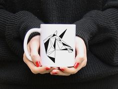 Origami Einhorn Tasse // unicorn mug via DaWanda.com