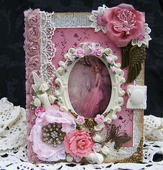 """Shabby Chic Fairy Scrapbook Album by Toni """"Just stunning"""" This sold on ebay for $227.50!"""