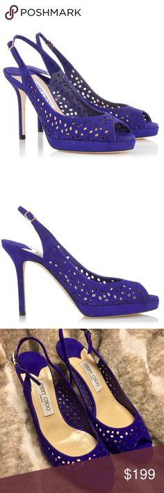 "NWOB❗️Jimmy Choo Nova Viola Suede Heels Brand new and never worn! No box. 3.9"" heels. Jimmy Choo Shoes Heels"