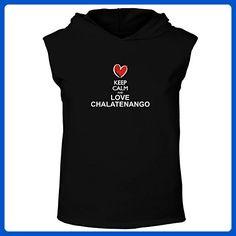Idakoos - Keep calm and love Chalatenango chalk style - Cities - Hooded Sleeveless T-Shirt - Cities countries flags shirts (*Amazon Partner-Link)