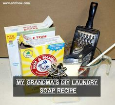 How To Make Grandma's Laundry Detergent, homesteading, preparedness, frugal, cheap, washing clothes,
