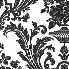 ELEGANT FLORAL DAMASK - Wallpaper