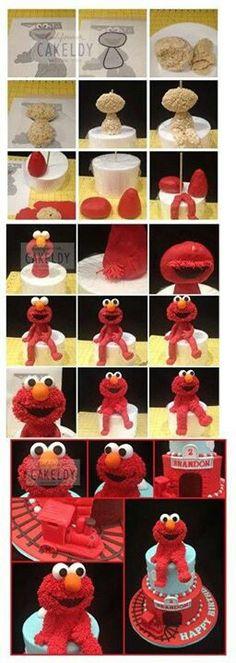 .how to make an #elmo cake #birthdaypartyideas