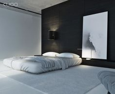 I kinda like how the bed looks like it doesnt have a frame. Just a thought..The floor and carpet looks nice too