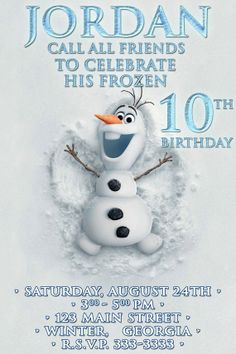 Disney Frozen Birthday party Invitation card digital от VintageDS, $9.99