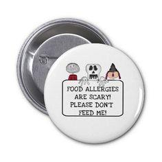 Halloween Food Allergies Pins