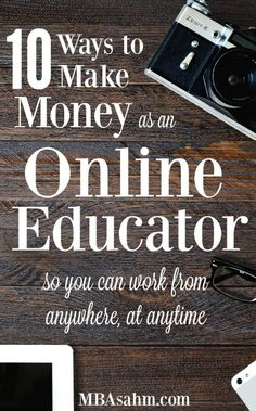 10 Ways to Make Money as an Online Educator - MBA sahm There are so many ways to make money as an online educator nowadays! And if you do it right, they pay way more than anything in a classroom. Work From Home Jobs, Make Money From Home, Way To Make Money, Make Money Online, Blockchain, Home Based Business, Business Ideas, Craft Business, Business Opportunities