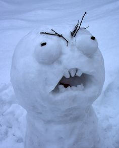 Real Snowman - Bing Images