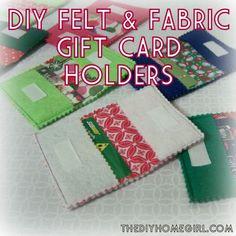 DIY Felt and Fabric Gift Card Holder Tutorial