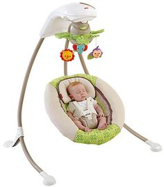Fisher-Price Deluxe Cradle & Swing Rainforest Friends Pack of 1 New Cheap Baby Swings, Baby Swings And Bouncers, Baby Cradle Swing, Baby Swing For Outside, Baby Swing Walmart, Fisher Price Toys, Baby Must Haves, Baby Needs, Baby Accessories