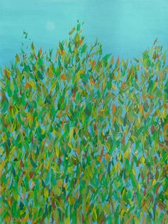 abstract paintings | ... inspired leaves branches flowers contemporary semi-abstract painting