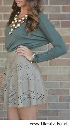 Add tights and this is perfect for fall