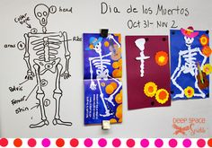 marigolds and torn paper skeleton - from Deep Space Sparkle