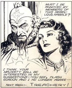 Flash Gordon (August 28, 1938 Comic Strip) Original Art by Alex Raymond