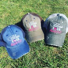 Hats {Bless your heart} 4 color options. by StacysPinkMartini on Etsy