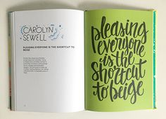 Andy Miller's new book, Creative Pep Talk! My favorite spread by Carolyn Sewell // Lisa Congdon's blog: Today is Going to be Awesome