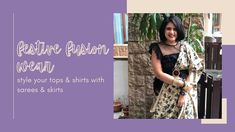 Gandhi, Indian Wear, Saree, Skirts, How To Wear, Tops, Indian Fashion, Indian Clothes, Sari