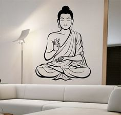Buddha Wall Decal Vinyl Sticker Art Decor Bedroom Design Mural interior design god asian yoga namaste by StateOfTheWall on Etsy https://www.etsy.com/listing/223721606/buddha-wall-decal-vinyl-sticker-art