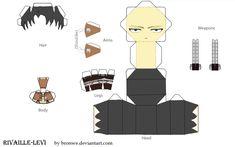 Rivaille (Levi) papercraft by Bronwe.deviantart.com on @DeviantArt