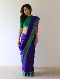 Blue Mehjabeen Silk Saree By Raw Mango