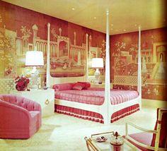 Fancy bedroom set.