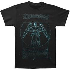Doctor Who Vitruvian Weeping Angel T-… Geek Toys, Doctor Who, Angel, Sweatshirts, Mens Tops, T Shirt, Geeks, Movie, Clothes
