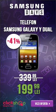 In perioada 5 - 14 octombrie avem activa promotia Samsung Days in cadrul careia avem produse cu reduceri de pana la 47%.