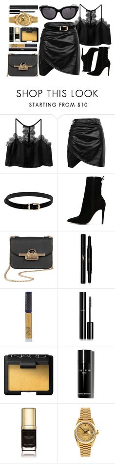 """Don't Hold Back"" by smartbuyglasses ❤ liked on Polyvore featuring Boohoo, ALDO, Yves Saint Laurent, Winky Lux, Chanel, NARS Cosmetics, Bobbi Brown Cosmetics, Dolce&Gabbana, Rolex and gold"