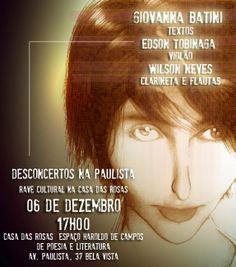 convite para evento literário na Casa das Rosas - São Paulo Brasil