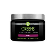 Greens™ – Berry | It Works!® Detoxify, alkalize, and promote pH balance within the body Acidity-fighting magnesium and potassium blend Cutting-edge probiotic support for digestive health 38 herbs and nutrient-rich superfoods 8+ servings of fruits and vegetables in every scoop Free radical-fighting antioxidants Great-tasting berry flavor