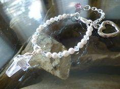 Crystal Christening Baby Bracelet by ElliTs on Etsy