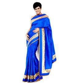 Mandira Bedi Blue Silk Saree, http://www.snapdeal.com/product/mandira-bedi-blue-silk-saree/654750891812