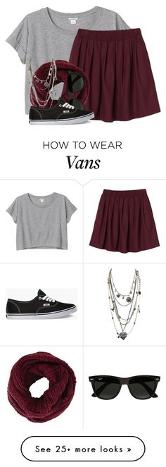 """""""Promise?"""" by comickid101 on Polyvore featuring Monki, BCBGMAXAZRIA, Ray-Ban, Oasis and Vans"""