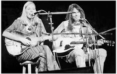 Joni Mitchell and Neil Young Live! Music Poster 11x17
