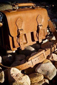 Classic Leather Men's Briefcase and Satchel Bags for a Man, for Laptops and with Adjustable Shoulder Straps