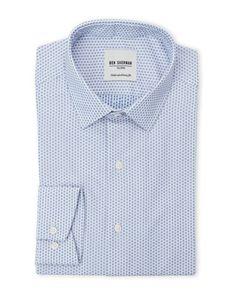 Ben Sherman | Blue Square Pattern Dress Shirt for Men | Lyst