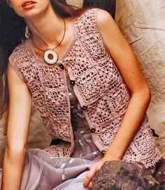 Crochet Sweater: Women Vest - Crochet Vest Pattern Free