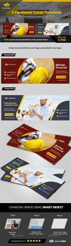 Business Facebook Cover Templates - #Facebook Timeline Covers #Social Media Download here:  https://graphicriver.net/item/business-facebook-cover-templates/19589362?ref=alena994