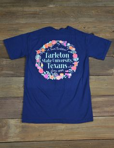 Spring is here and we know you are excited about it! Show your love for your school while looking very springish in this new Tarleton State University Floral t-shirt!