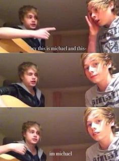 It's funny cause Luke didn't even notice at first, he'd be like 'yeah and we're gon play. . .'