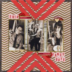 Fancy Date - Scrapbook.com. Made with the Scrapbook.com Kit Club February Kit - Heart of Gold.