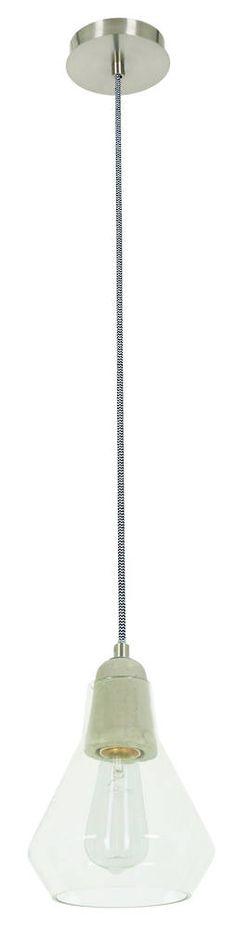 ANDO CONCRETE & GLASS PENDANT - Modern Pendants - Pendant Lights - LIGHTING DIRECT LIMITED Direct Lighting, Glass Pendants, Pendant Lighting, Concrete, Ceiling Lights, Modern, Home Decor, House, Living Room