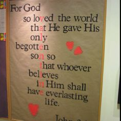 John 3:16 for Valentines Day