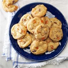 Orange Slice Cookies Recipe- Recipes  Soft candy orange slices are a refreshing addition to these crispy vanilla chip cookies from Britt Strain, Idaho Falls, Idaho. To quickly cut the orange candy, use scissors, rinsing the blades with cold water occasionally to reduce sticking.